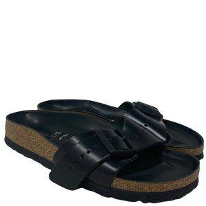 Rick Owens Birkenstock Madrid Black Leather Sandals Size 37 US 7